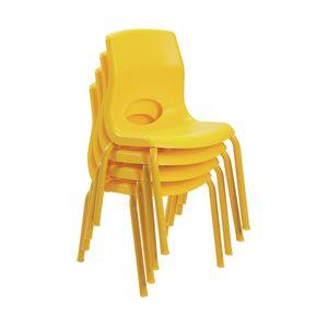"Angeles® MyPosture™ Chair 12"" H - Set of 4 Yellow"