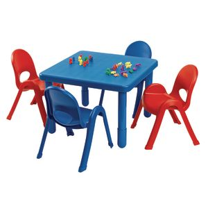 "Angeles® MyValue™ Set - 28""Sq. x 12""H with Four 5""H Chairs - Blue"