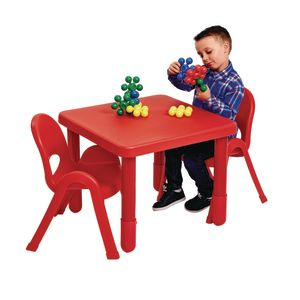 "Angeles® MyValue™ Set - 28""Sq. x 12""H with Four 5""H Chairs - Red"