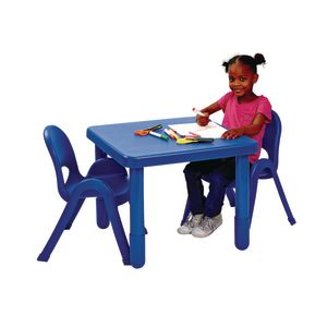 "Angeles® MyValue™ Set  - 28""Sq. x  20""H with Four 11""H Chairs - Blue"