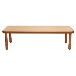 """30"""" x 72"""" Rectangle BaseLine® Table, 20""""H - Natural Cocoa"""