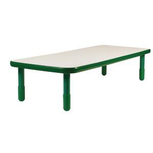"30"" x 72"" Rectangle BaseLine® Table, 18""H - Shamrock Green"