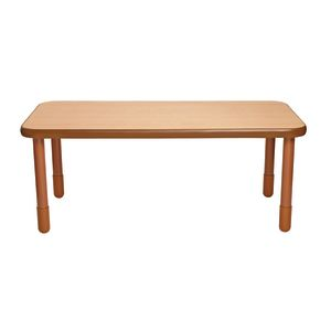 """30"""" x 60"""" Rectangle BaseLine® Table, 24""""H - Natural Cocoa"""