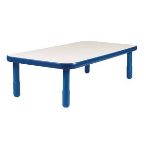 "30"" x 60"" Rectangle BaseLine® Table, 16""H - Blue"