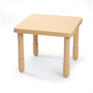 "Angeles® Value Table 28"" Square, 12"" Leg - Natural Tan"