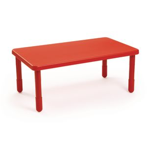 "Angeles® Value Table 28"" x 48"" Rectangle, 16"" Leg - Red"