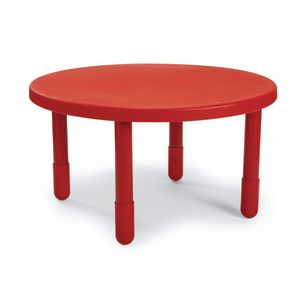 "Angeles® Value Table 36""  Round, 20"" Leg - Red"