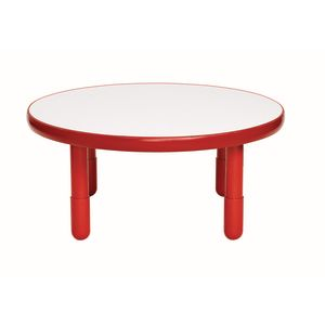 "36"" Round BaseLine® Table, 16"" Leg - Red"