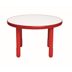 "36"" Round BaseLine® Table, 24"" Leg - Red"