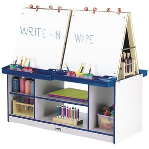 Rainbow Accents® 4-Station Easel - Blue