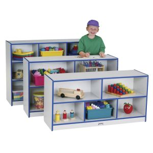 Rainbow Accents® Mobile Shelving, Preschool - Blue