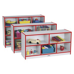 Rainbow Accents® Mobile Shelving, Preschool - Red