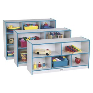 Rainbow Accents® Mobile Shelving, Preschool - Teal