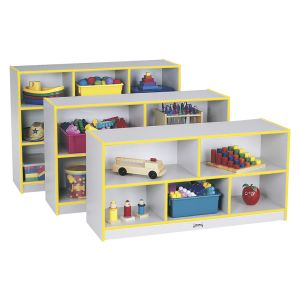Rainbow Accents® Mobile Shelving, Preschool - Yellow