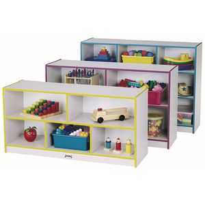 Rainbow Accents® Mobile Shelving, Preschool - Navy