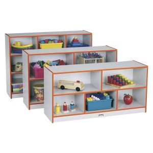 Rainbow Accents® Mobile Shelving, Preschool - Orange