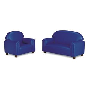 Brand New World School-Age Vinyl Sofa - Blue