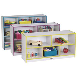 Rainbow Accents® Mobile Shelving, School Age - Navy
