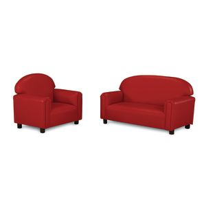 Brand New World School-Age Vinyl Sofa - Red