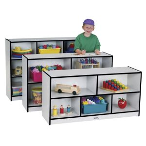 Rainbow Accents® Mobile Shelving, School Age - Black