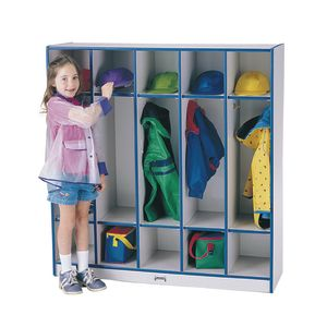 Rainbow Accents® 5-Section Coat Locker - Orange