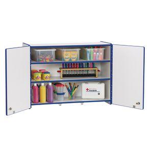 Rainbow Accents® Lockable Wall Cabinet - Black