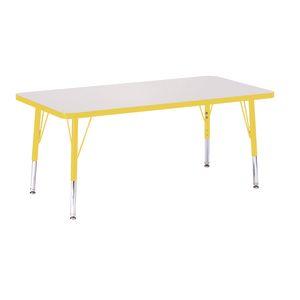 "24"" x 48"" Berries® Rectangle Activity Table, 15"" - 24"" Leg - Yellow"