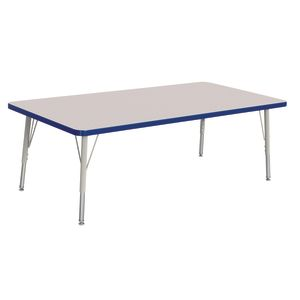 "Berries® 30"" x 60"" Rectangle Activity Table,  15"" - 24"" Leg Height - Blue"