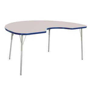 "Berries® 48"" x 72"" Kidney Activity Table, 24"" - 31"" Leg Height - Blue"