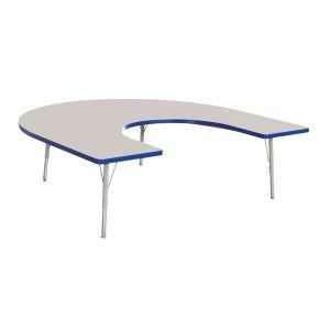 "Berries® 60"" x 66"" Horseshoe Activity Table, 15"" - 24"" - Blue"