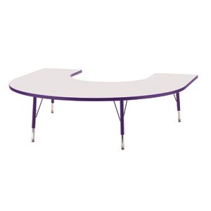 "Berries® 60"" x 66"" Horseshoe Activity Table, 24"" - 31"" - Purple"