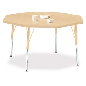 "48"" x 48"" Berries® Maple Prism Activity Table -  Octagon, 24"" - 31"" Leg Height"