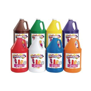 Colorations® Washable Gel Paint Gallon - Set of 8