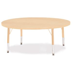 "42"" Berries® Maple Prism Activity Table - Round, 24"" - 31"" Leg Height"