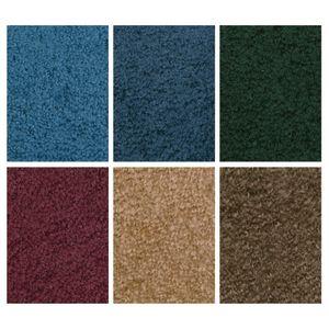 Mt. St. Helens Marine Blue 6' x 9' Oval Solid Carpet