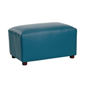 Modern Casual Enviro-Child Upholstered Ottoman - Blue