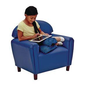 Brand New World School Age Enviro-Child Upholstery Chair - Deep Red
