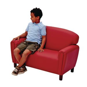 Brand New World Preschool Enviro-Child Upholstery Sofa - Deep Red