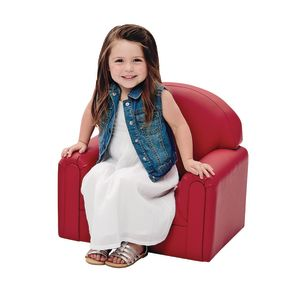 "Toddler Enviro-Child Upholstery Chair 8""H Seat Height - Primary Red"