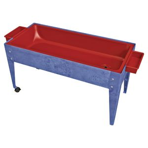 "24"" Sand and Water Activity Center with Solid Red Liner with 2 Casters - Blue"