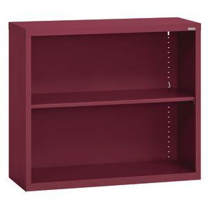 Elite Welded Bookcase - 1 Shelf - Burgundy