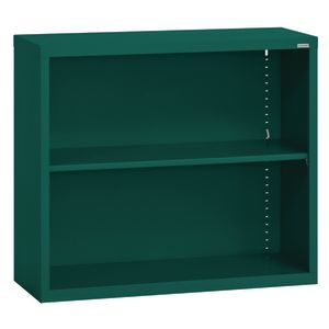 Elite Welded Bookcase - 1 Shelf - Forest Green