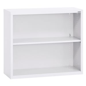Elite Welded Bookcase - 1 Shelf - White
