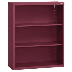Elite Welded Bookcase - 2 Shelves - Burgundy