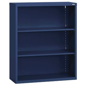 Elite Welded Bookcase - 2 Shelves - Navy