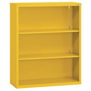 Elite Welded Bookcase - 2 Shelves - Yellow