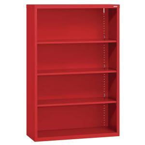 Elite Welded Bookcase - 3 Shelves - Red