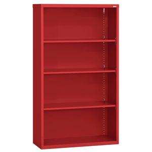 Elite Welded Bookcase - 4 Shelves - Red