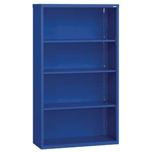 Elite Welded Bookcase - 4 Shelves - Blue