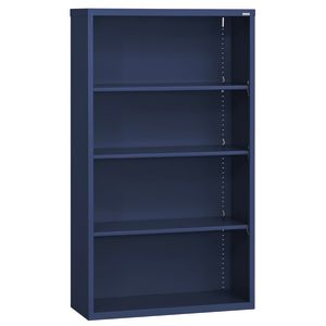Elite Welded Bookcase - 4 Shelves - Navy